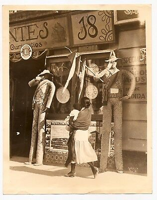 HISPANIC STOREFRONT SIGNS Walker Evans-like * VINTAGE c1920s  Surrealistic photo
