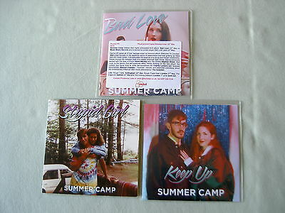 SUMMER CAMP job lot of 3 CD/promo CDs Bad Love Keep Up Stupid Girl EP