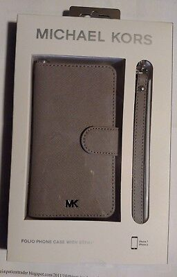 the latest b310a 90eff MICHAEL KORS IPhone Folio Phone Case with Strap NIB for I phone 7&8