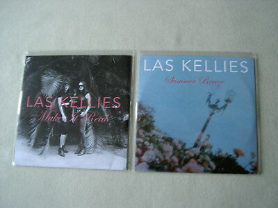 LAS KELLIES job lot of 2 promo CDs Make It Real Summer Breeze