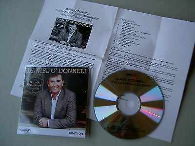 DANIEL O'DONNELL The Hank Williams Songbook promo CD album