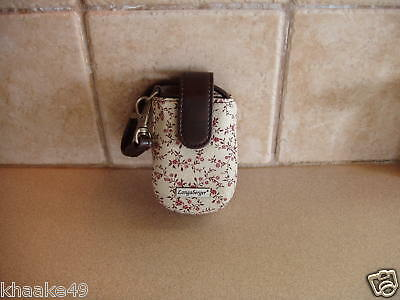 Longaberger Vintage Floral Cell Phone Wristlet Clip-On Carry Case Nip Free Ship