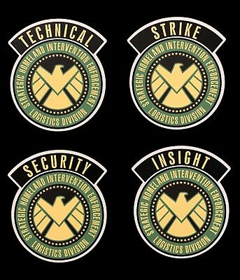 Shield • Project Insight Strike Team • Shoulder Decals • Agent Cosplay Marvel •