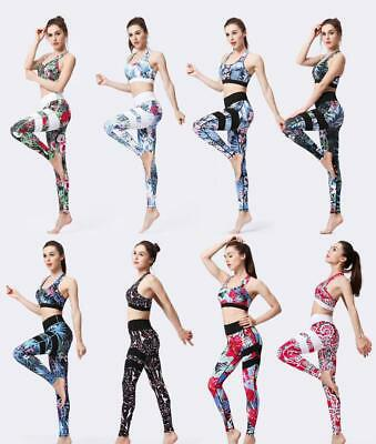 3D Printed Sportswear Women's Compression Fitness Suit Top & Leggings Sexy Yoga