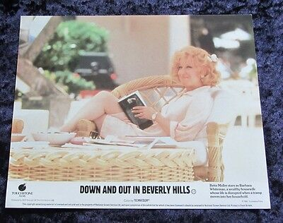DOWN AND OUT IN BEVERLY HILLS lobby card BETTE MIDLER