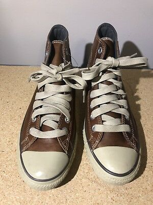 cbeb410b0f0a Converse Chuck Taylor All Star Boot Mid Top Leather Pine Cone Sz 9.5 115714  New