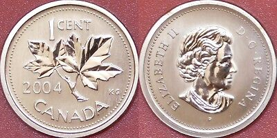 Specimen 2004P Canada 1 Cent From Mint's Set