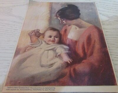 "Antique Magazine Print ""Baby's First Christmas"" Victorian 1900s"