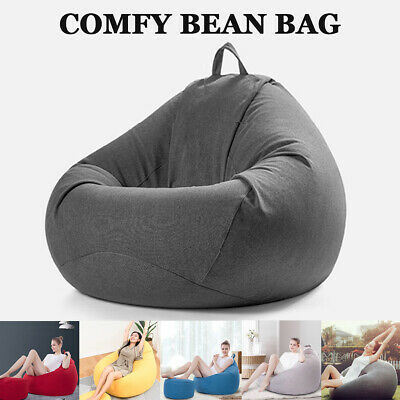 Soft Bean Bag Chairs Couch Sofa Cover Indoor Lazy Lounger For Adults Kids Wash
