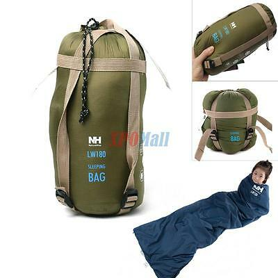 Outdoor Ultra-light Envelope Sleeping Bag for Camping Travel Hiking Army Green