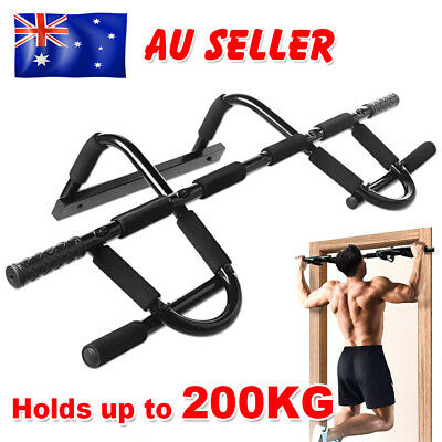 Chin Pull Up Bar Gym Door Doorway Muscle Power Fitness Portable Exercise Station