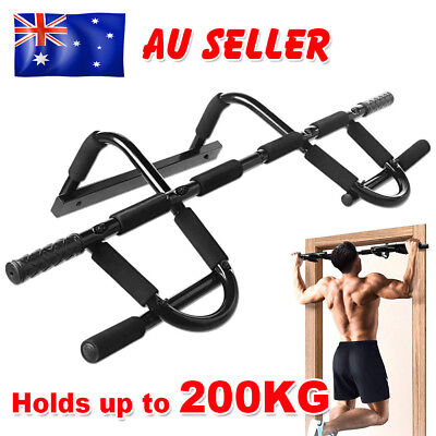 Portable Door Station Gym Exercise Doorway Pullup Chin Up Bar Chinup