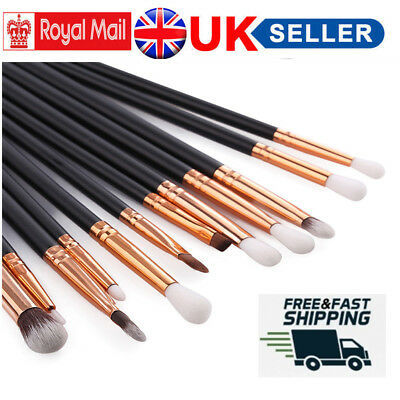 12x Professional Make up Brush Set Eyeshadow Blending Pencil Eye Brush Set Tool