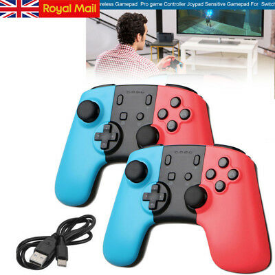 2x Wireless Gaming Controller Gamepad Joypad Remote for Nintendo Switch Console