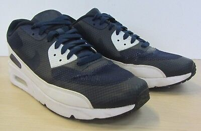 premium selection 786a4 7b55e Mens Nike Air Max 90 Ultra 2.0 Essential Blue Navy White Trainers UK 8.5