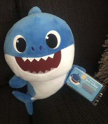 Daddy Baby Shark Singing 25cm Blue Plush Soft Toy 100% GENUINE UK PINKFONG NEW