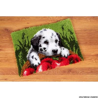 Dalmatian & Apples Latch Hook kit by Vervaco 53x39cm printed latch hook canvas
