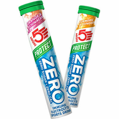 High 5 Zero Protect Electrolyte Hydration 1 Tube 20 Tabs High5 Energy Tablets