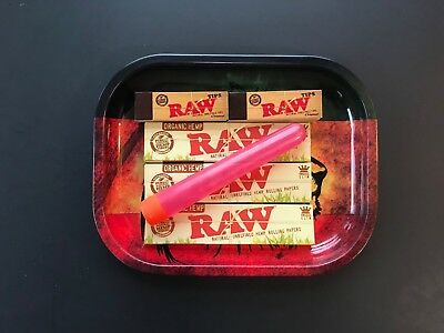 Raw Rolling Kit 420 Lion Tray Bundle King Size Papers RAW Tips *FREE DOOB TUBE*