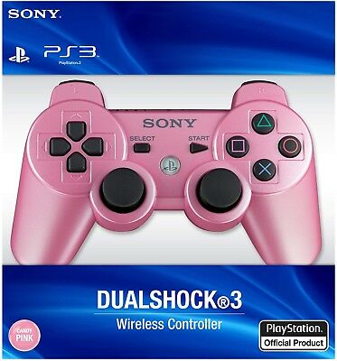 Pink Sony PS3 Wireless Dualshock 3 Controller Sixaxis New In Box US Shipping