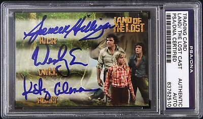 1974-77 Land of the Lost Coleman/Eure/Milligan Signed LE Trading Card (PSA/DNA)