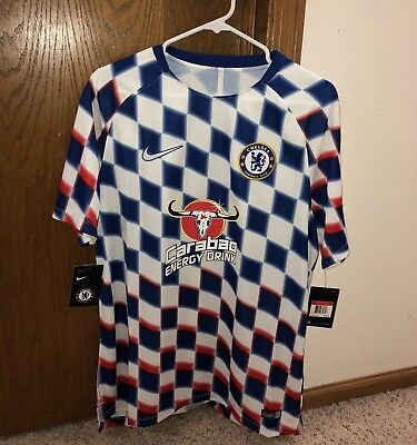 Nike FC Chelsea Checkered Soccer Training Jersey 2018 Men s XL 919937 101 aef20a401