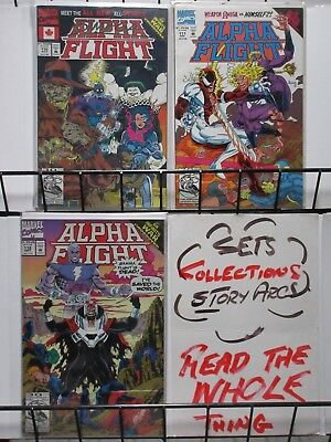 ALPHA FLIGHT  (Marvel, 1983) #110-112 VF-NM 'Bare Bones' pt 1-3 Complete! THANOS