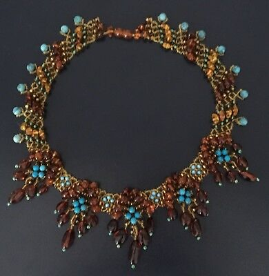 Artisan_Handcrafted Baltic Amber with Turquoise,Choker Necklace Unique_Detail