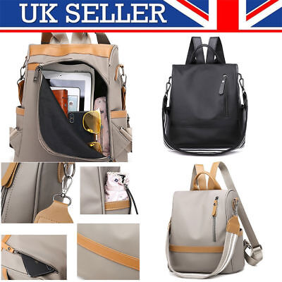 Ladies Waterproof Anti-theft Oxford Cloth Backpack Travel Rucksack Shoulder Bag