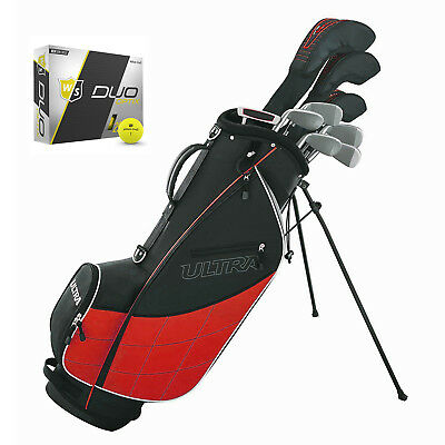 Wilson Ultra Men's Complete 13 Piece Right Handed Golf Club Set w/ Bag & Balls