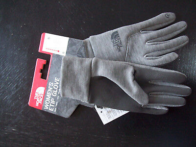 The North Face Womens ETIP Touch Gloves SMALL Medium Grey Heather NEW