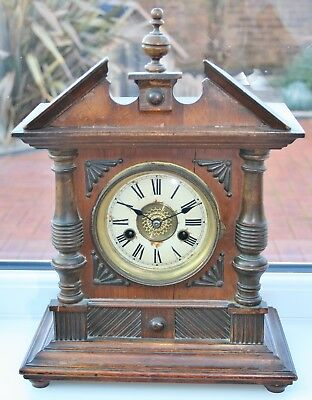 Antique German H.A.C 14 Day Striking Mantel Clock from Whitmores of Northampton