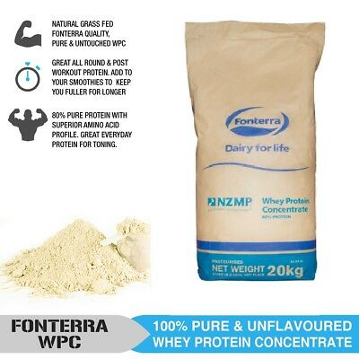 20Kg Fonterra Pasture Raised Whey Protein Concentrate - 20Kg Wpc