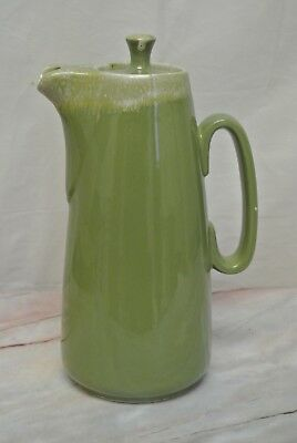 Vintage Hull Pottery Avocado Green Drip Coffee Pot Oven Proof 1960s