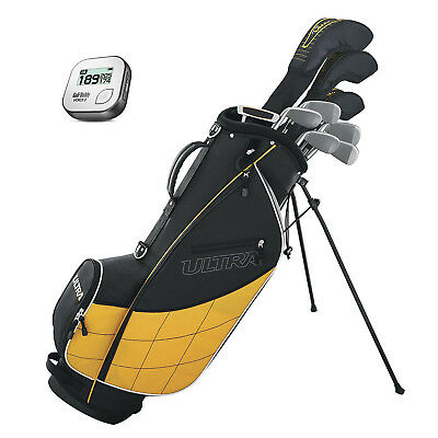 Wilson Ultra Mens Complete 13 Piece Right Handed Golf Club Bag Set & Rangefinder