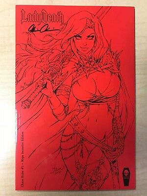 LADY DEATH Chaos Rules #1 MEGA INCENTIVE Sketch Variant Cover by Dawn McTeigue