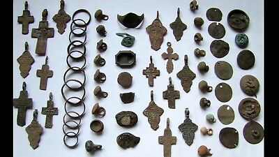 GENUINE Ancient Wedding Bronze RINGS,Crosses,RINGS Fragments,Buttons (1)