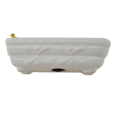 Modern Style 1/12 Ceramic Bathtub Furniture for Dollhouse Miniature Bathroom