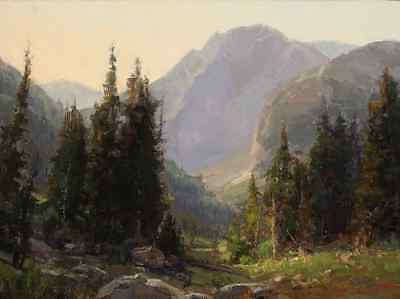 """Art Print Valley Landscape Oil painting Picture Printed on canvas 16""""X20"""" P218"""