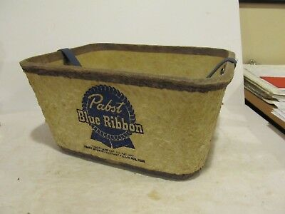 RARE 1950'S - PABST BLUE RIBBON BEER - COMPOSITE COOLER - PAPER MACHE - no cover
