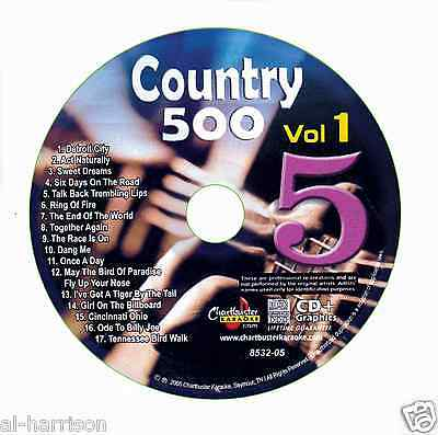 Karaoke Chartbuster Cd+G Country 500 Cb8532 Vol.1 Disc # 5