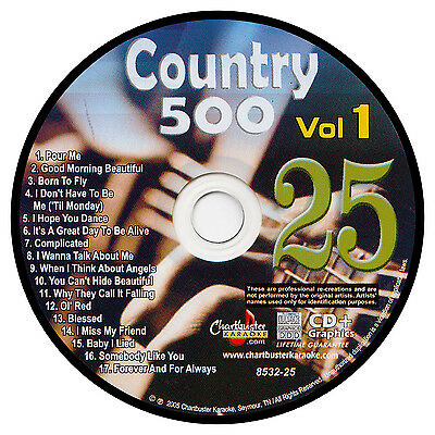 Karaoke Chartbuster Cd+G Country 500 Cb8532 Vol.1 Disc # 25