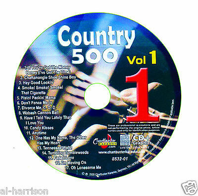 Karaoke Chartbuster Cdg Country 500 Vol.1 Disc Cb8532  Disc #1