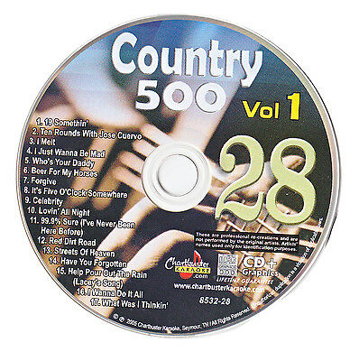 Karaoke Chartbuster Cd+G Country 500 Cb8532 Vol.1 Disc # 28