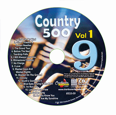 Karaoke Chartbuster Cd+G Country 500 Cb8532 Vol.1 Disc # 9