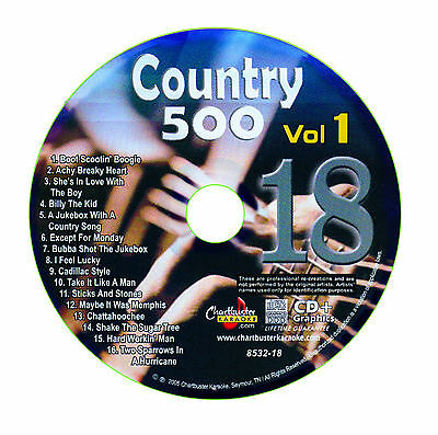 Karaoke Chartbuster Cd+G Country 500 Cb8532 Vol.1 Disc # 18