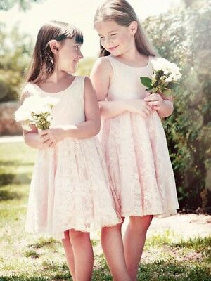 5945e2ad055 White Ivory Short Lace Boho Flower Girl Dresses Kids Princess Party Ball  Gown