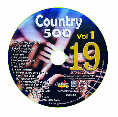 Karaoke Chartbuster Cd+G Country 500 Cb8532 Vol.1 Disc # 19