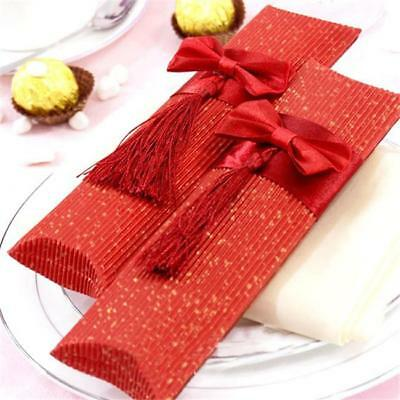 5x Pillow Shape Paper Candy Box Wedding Favor Baby Shower Party Candy Gift Bag A