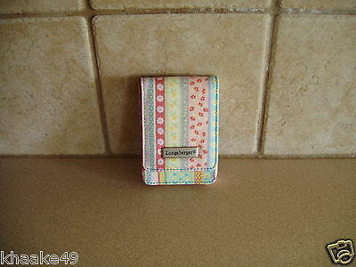 Longaberger Spring Parade Business Card / Credit Card Case * Nip * Free Shipping
